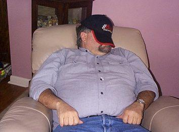 man on recliner