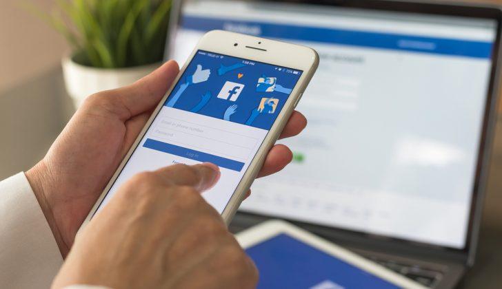 person facebook browsing