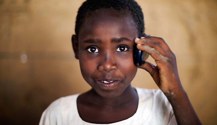 teenager on cellphone