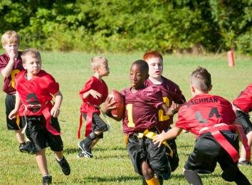 kids running around