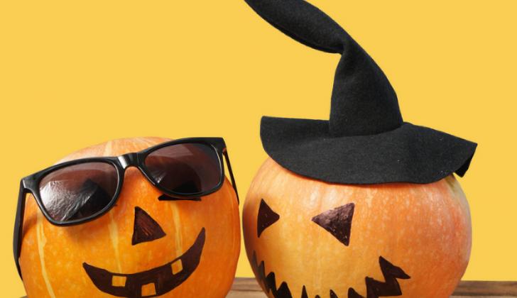 pumpkins wearing glasses black