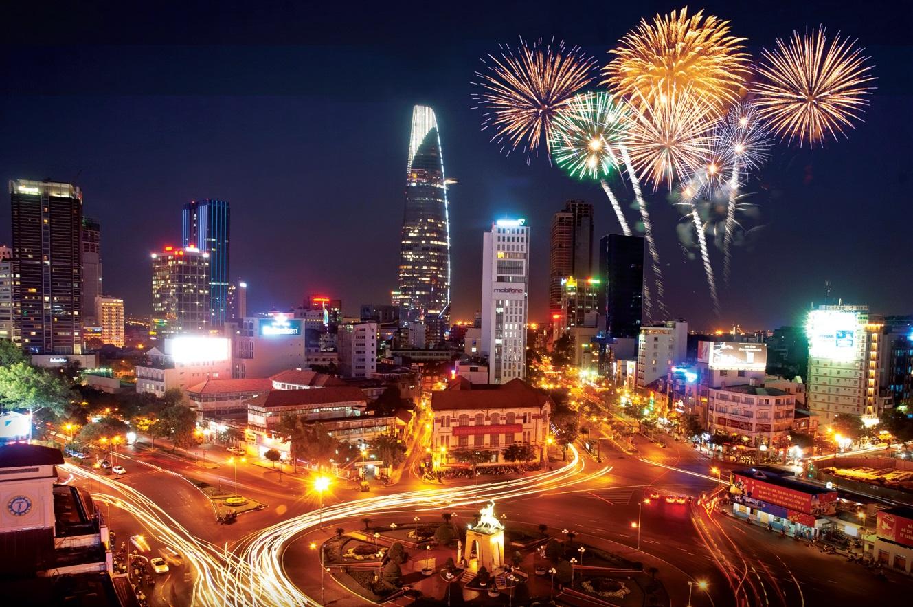 firework in hcm city