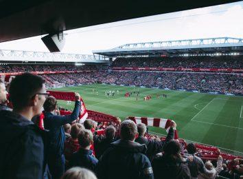 Soccer football stadium crowd