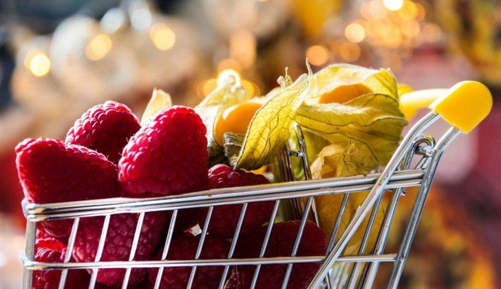 mini shopping cart berries