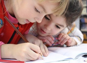 kids studying to unlock math ability