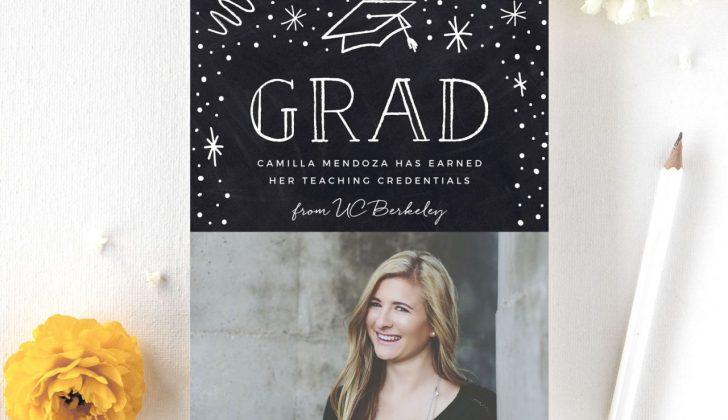 teachers chalkboard graduation announcements