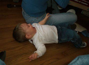 horrible kids throwing a tantrum