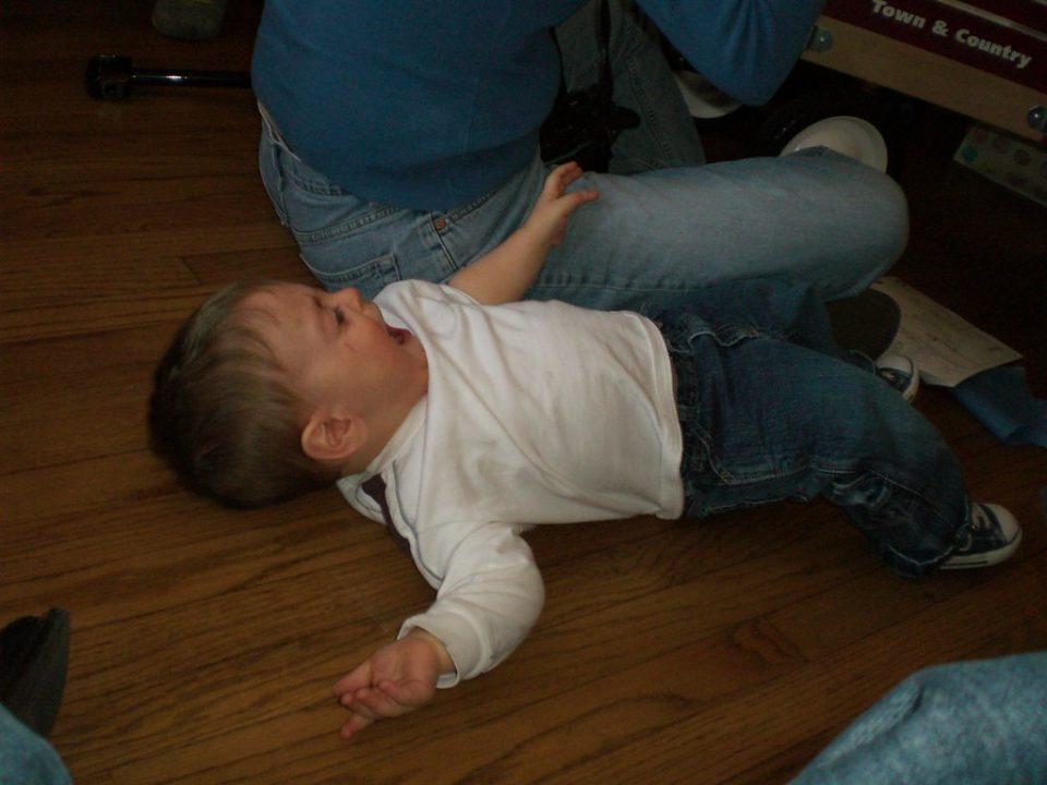 annoying child having tantrum