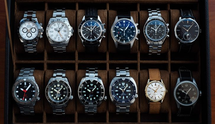 case full of watches