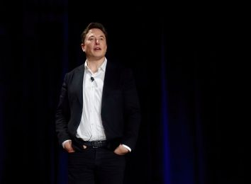 elon musk talking on stage