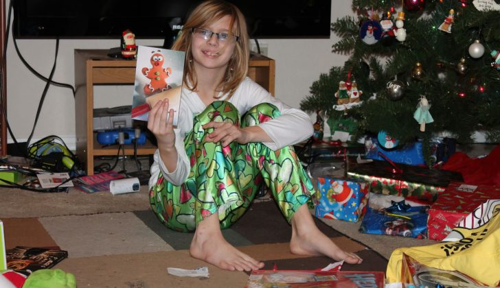 child opening crappy gifts
