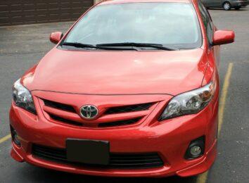 Toyota Corolla in red