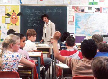 students teacher school